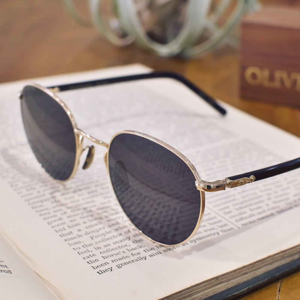 OLIVER PEOPLES オリバーピープルズ HASSET-J サングラス ボストン メタル 彫金 福岡の眼鏡店 北九州 小倉 メガネ