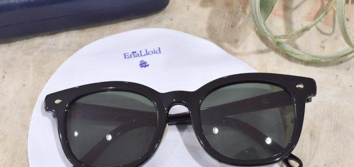 EnaLloid エナロイド No.22 サングラス ボスリントン メガネ女子 カジュアル 黒縁
