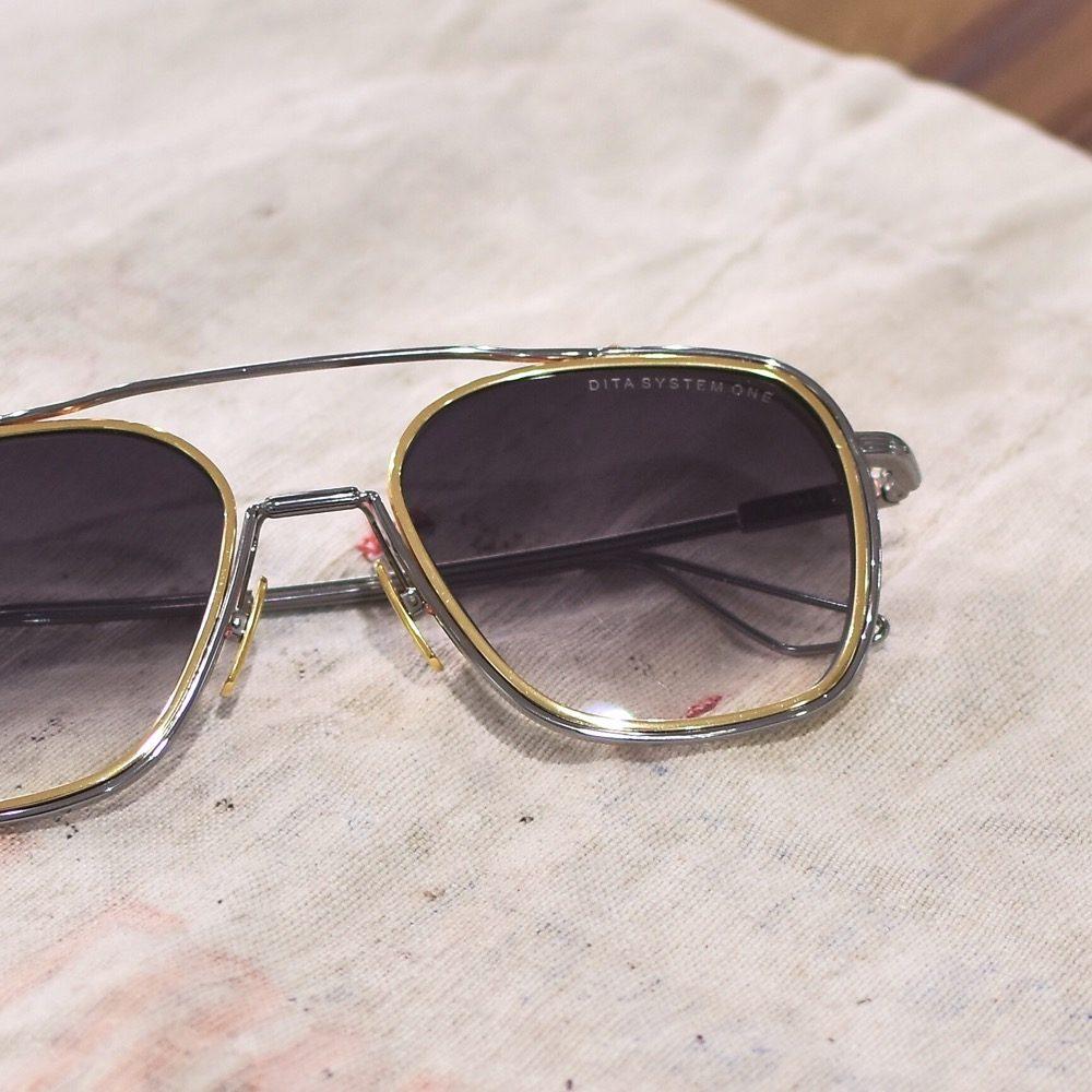 DITA ディータ SYSTEM ONE ロサンゼルス チタン サングラス ティアドロップ 福岡の眼鏡店 北九州 メガネ男子
